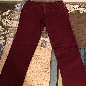 Abercrombie Red Chino Pants